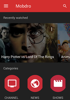 Mobdro for Android premium apk