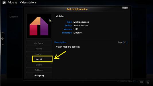 Mobdro for Kodi Software XBMC